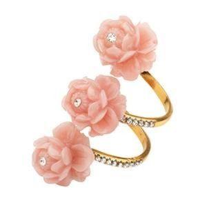 T.Arrigoni Krishina Crystal Floral Ring Boho